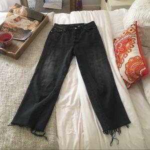 Vintage Crop Straight Leg Jeans